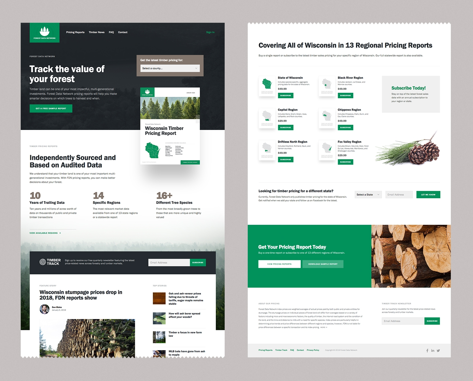 Forest Data Network Web Design