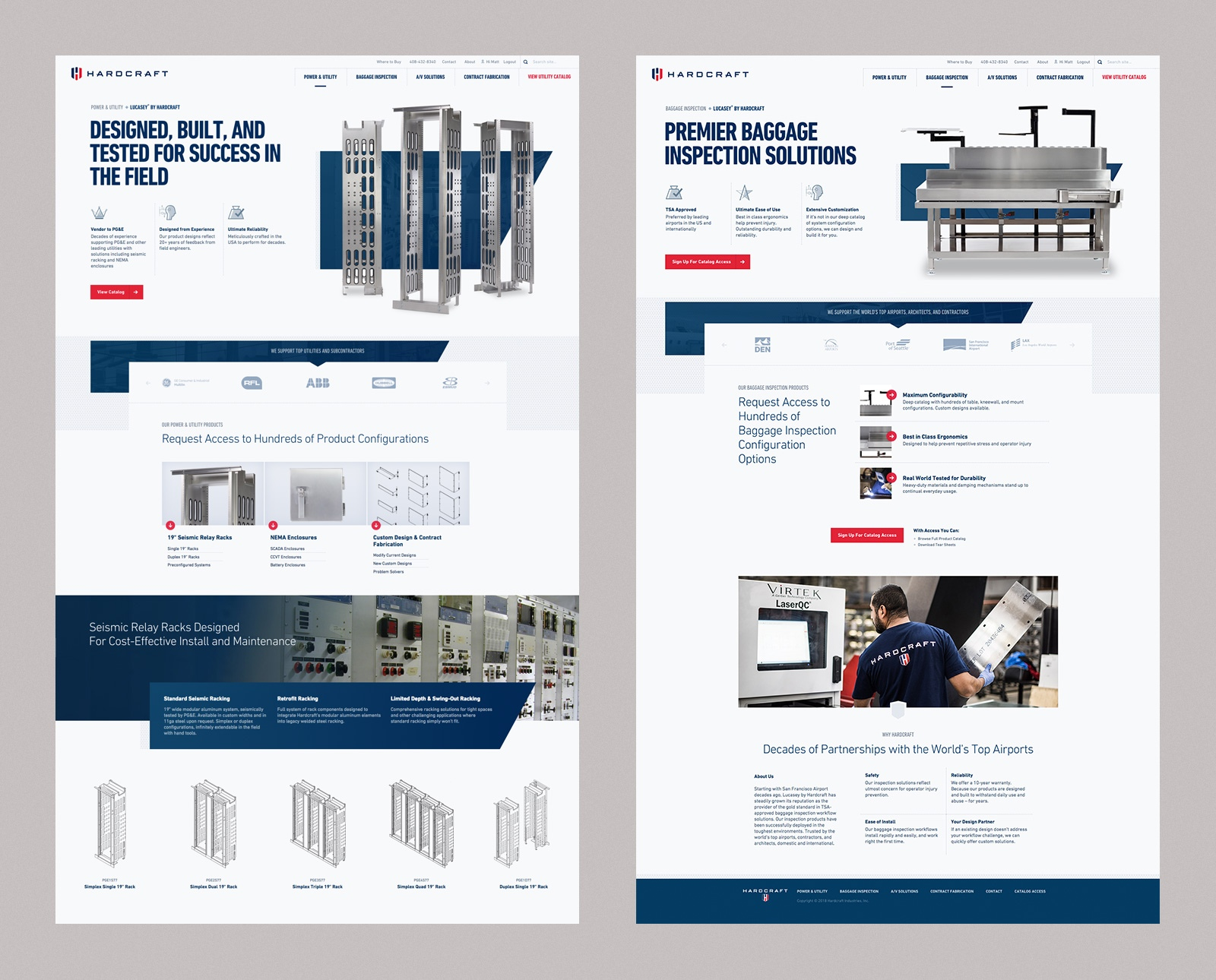 Hardcraft Industries Web Design
