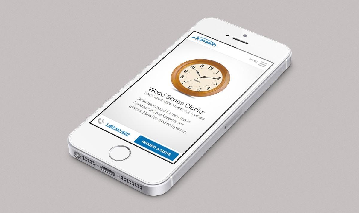 Primex Mobile Navigation Design