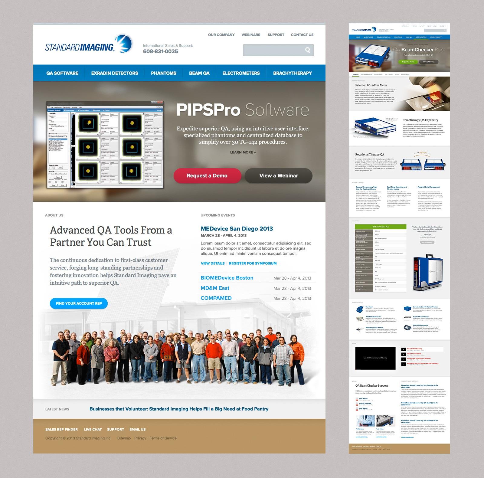 Standard Imaging Web Design