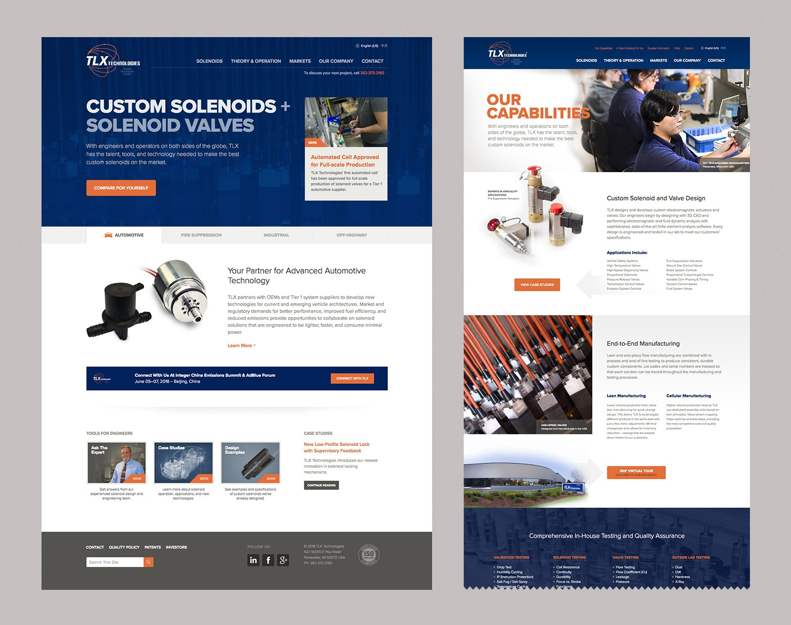 TLX Technologies Website Design
