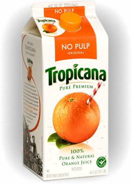 Tropicana's Old Carton Design